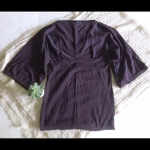 Gap Maternity Eggplant Bell Sleeve Tunic Sweater